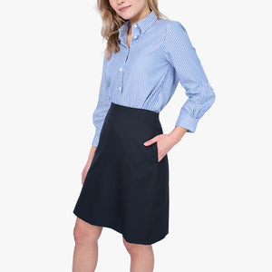A-line skirt with pockets, French Navy