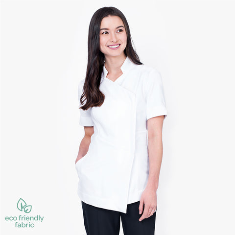 Asymmetric pharmacy jacket, Short sleeve