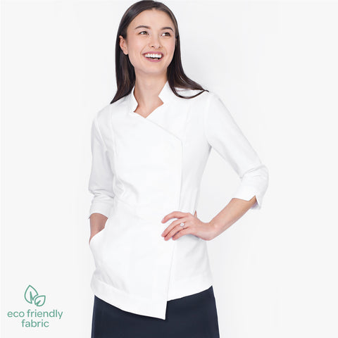 Asymmetric pharmacy jacket, 3/4 Sleeve
