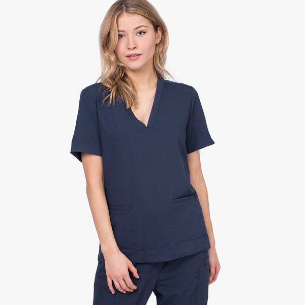 Women's modern scrub top