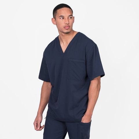 Men's modern scrubs top