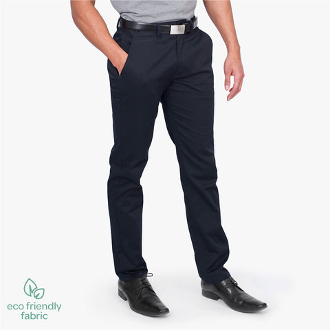 Men's slim style chino pant, French Navy