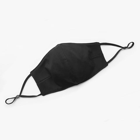 Adjustable contoured face mask, Black