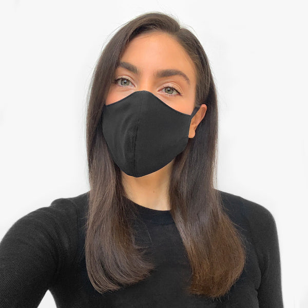 Unisex face mask, Black - 5 Pack