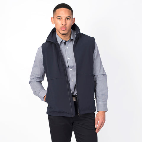 Men's softshell vest, Navy