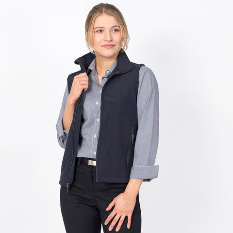 Women's softshell vest, Navy