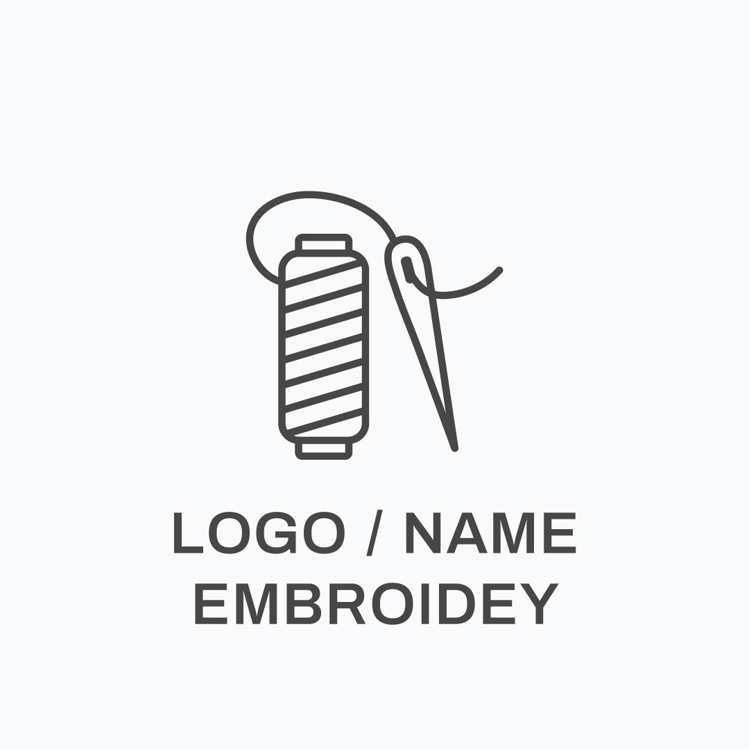 Logo or name embroidery on garments