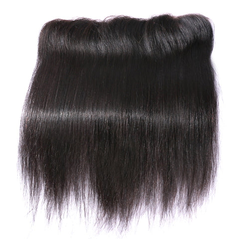 Image of Slnhair Brazilian Straight 13*4 Lace Frontal Closure With Baby Hair 100% Human Hair