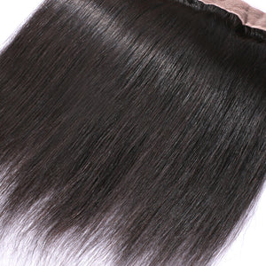 Slnhair Brazilian Straight 13*4 Lace Frontal Closure With Baby Hair 100% Human Hair