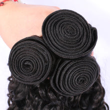 Load image into Gallery viewer, Slnhair Brazilian Hair Weave Human Hair Deep Curly 3 Bundles Remy Hair Extension
