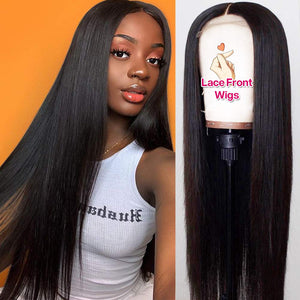 Slnwigs HD Aligned Human Hair Wigs Pre Plucked Hairline150% Density Brazilian Straight HD Lace Front Wigs for Black Women
