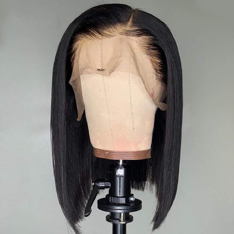 Image of Slnhair 6 Color Short Bob Wigs Pre-Plucked Brazilian Remy Hair Natural Hairline Full 130% Density