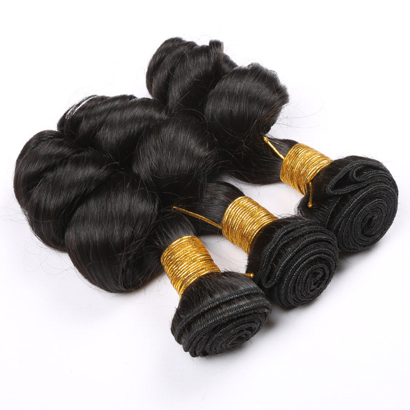 Slnhair Loose Wave Virgin Brazilian Hair Weave Bundles 100% Human Hair Extension