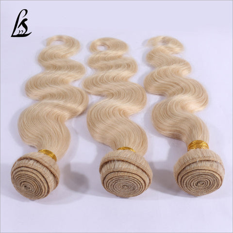 Image of Slnhair Blonde #613 Color Human Hair Bundles Body Wave