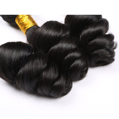 Image of Slnhair Loose Wave Virgin Brazilian Hair Weave Bundles 100% Human Hair Extension
