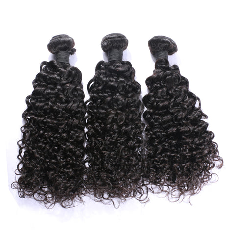 Image of Slnhair Brazilian Hair Weave Human Hair Deep Curly 3 Bundles Remy Hair Extension