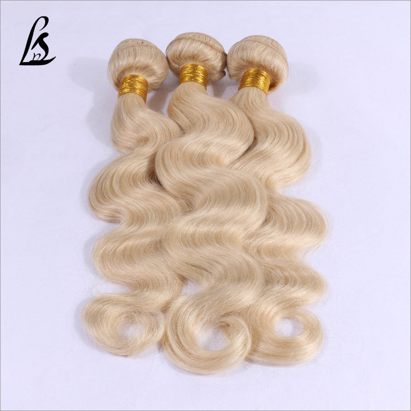 Slnhair Blonde #613 Color Human Hair Bundles Body Wave