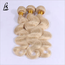 Load image into Gallery viewer, Slnhair Blonde #613 Color Human Hair Bundles Body Wave