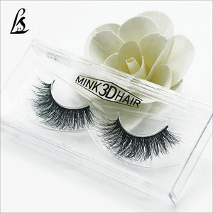 Free shipping 3D mink long lasting mink lashes natural eyelashes extension false eyelashes