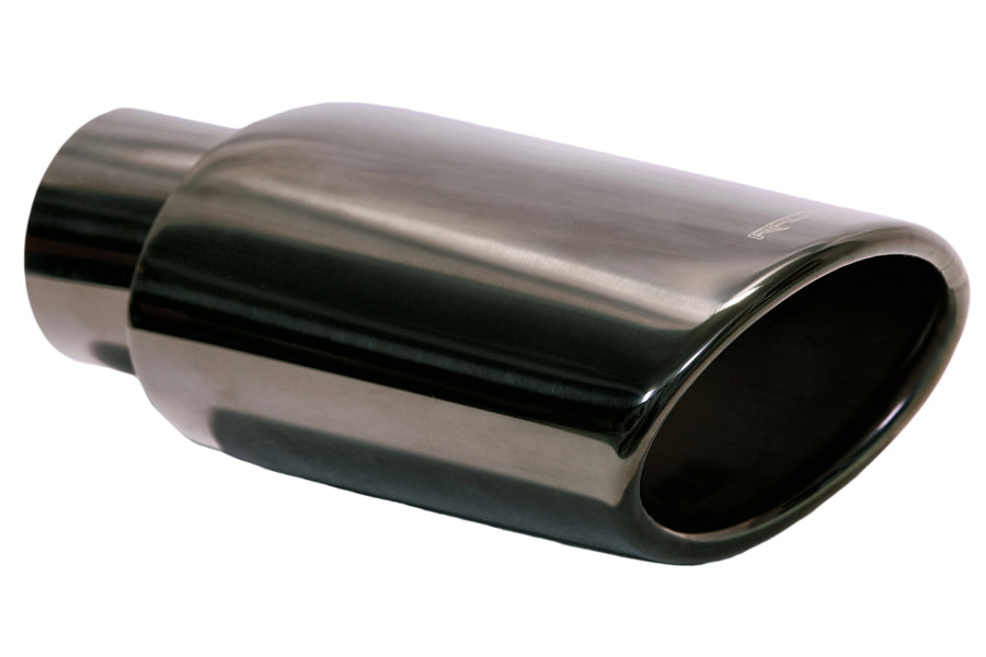Exhaust Black Chrome tip 7.5X3.5X2.5inlet