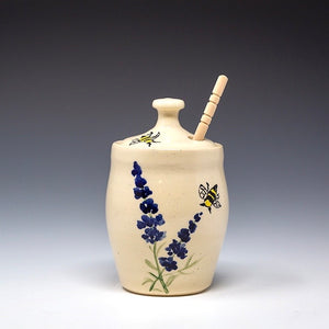 Hand Painted Lavender Honey Jar