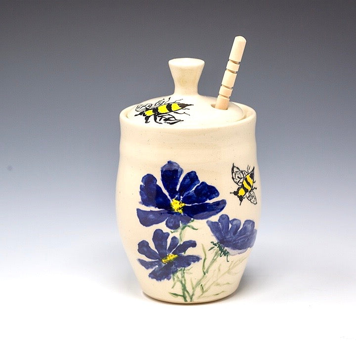 Hand Painted Honey Jar