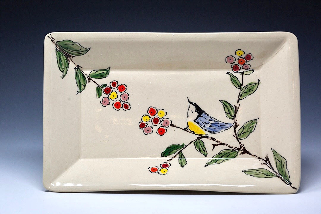 Hand Painted Rectangle Serving Platter