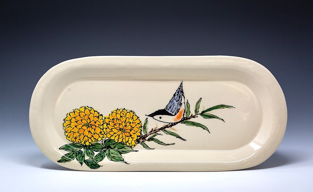 Hand Painted Medium Serving Platter