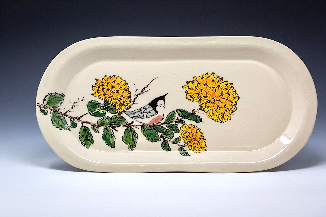 Hand Painted Large Serving Platter