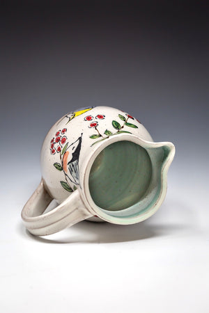 Hand Painted Whimsical Pitcher