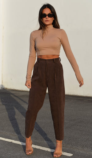 Bonnie Cropped Sweater - Camel