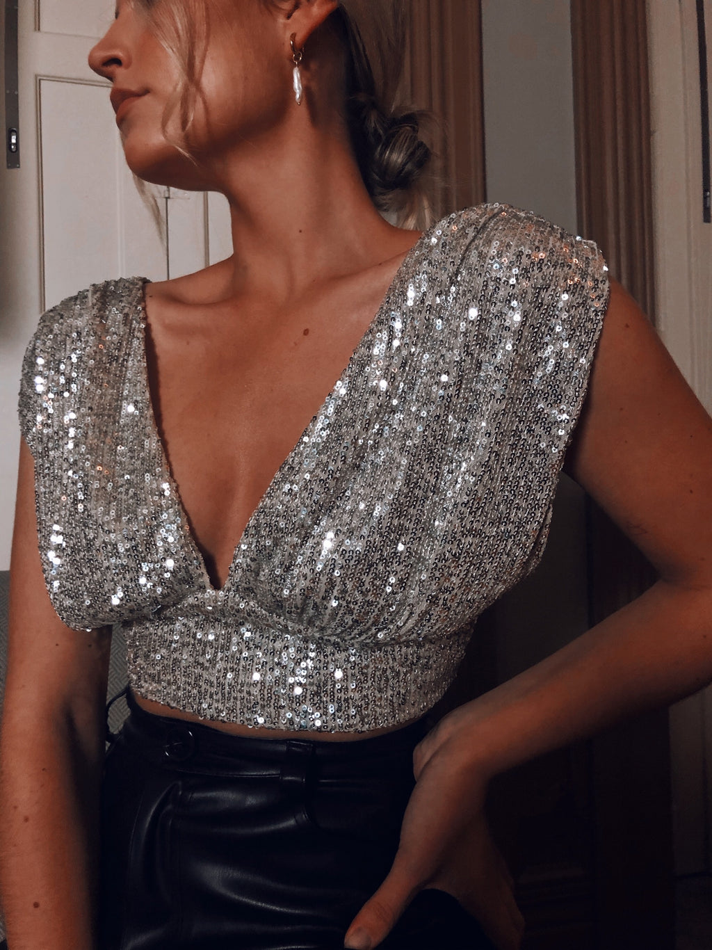 Moon Sequins Top