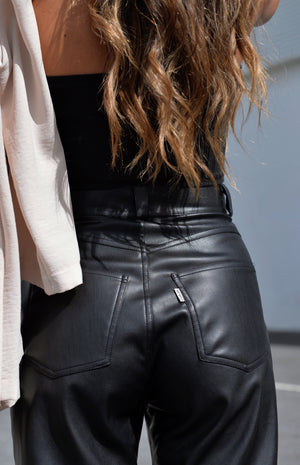 Naomi Vegan Leather Pants