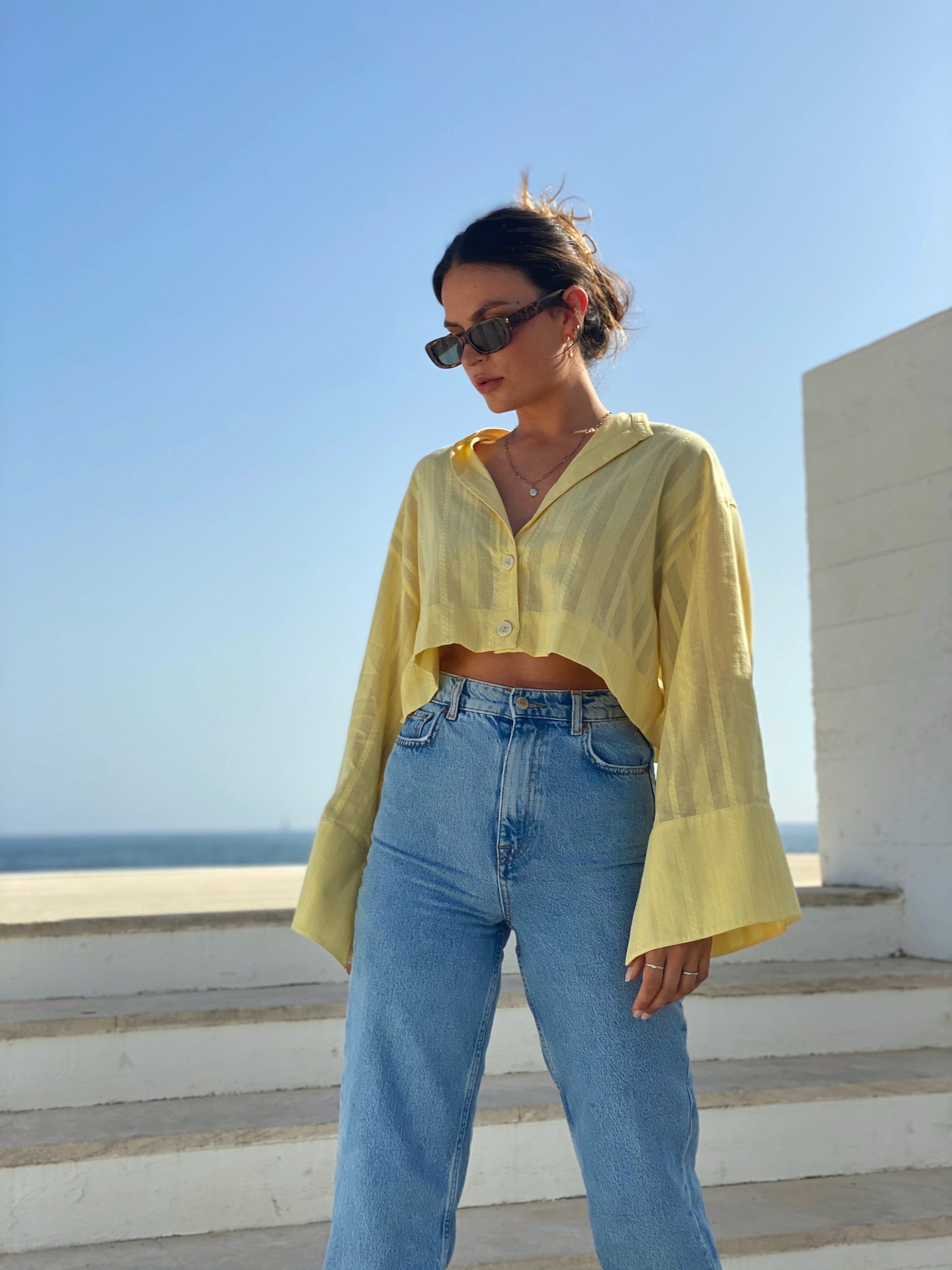 Limone Cropped Shirt
