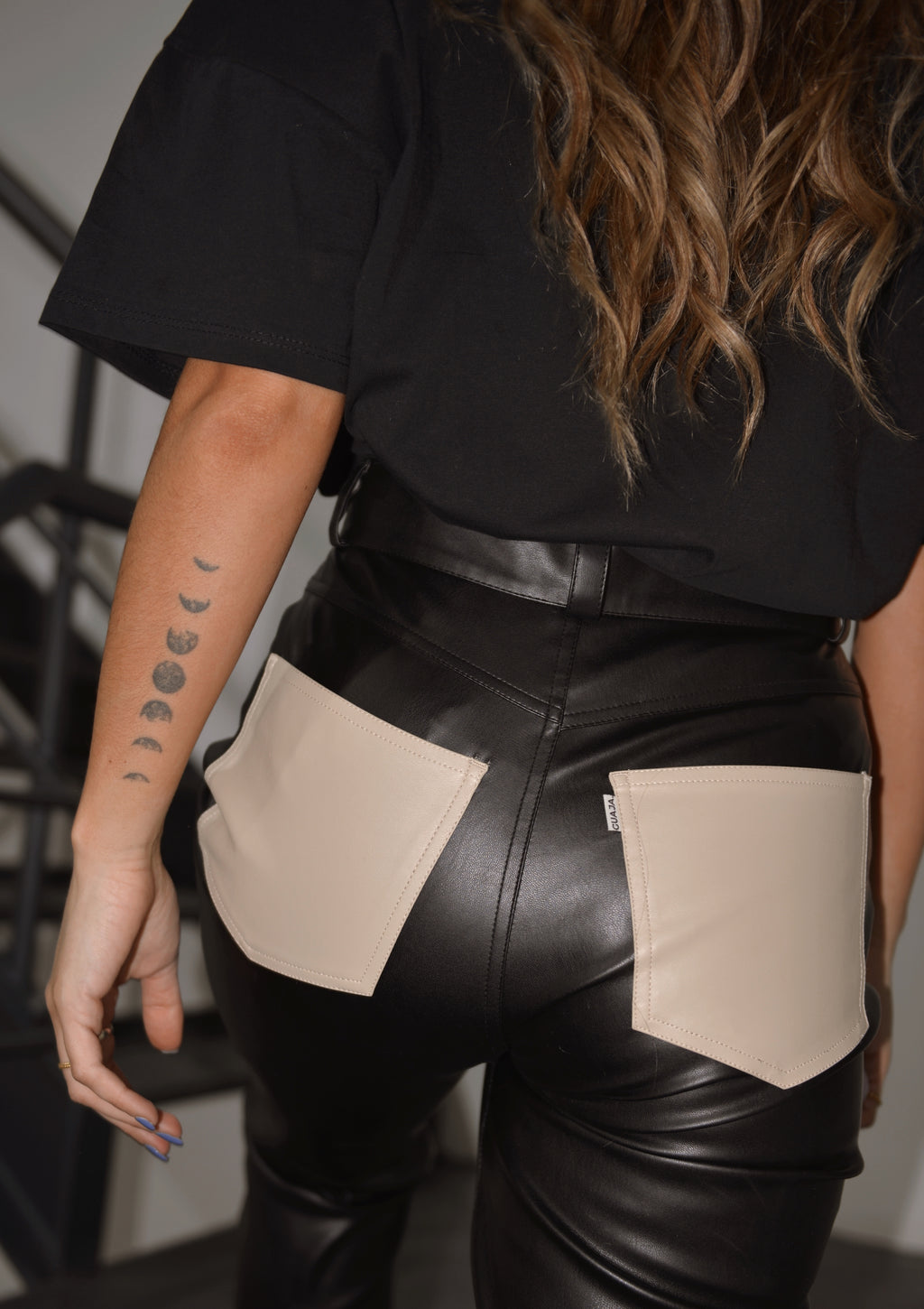 Naomi Colorblock Vegan Leather Pants