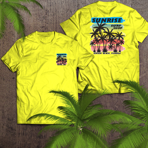 Palm Trees in neon - sunrise surf shop