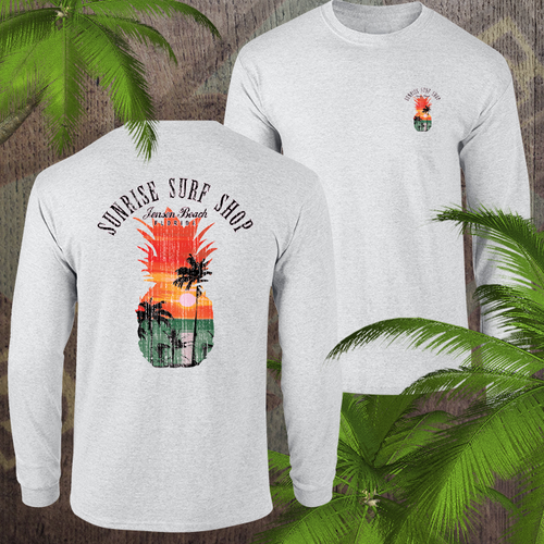 Pineapple sunset - sunrise surf shop