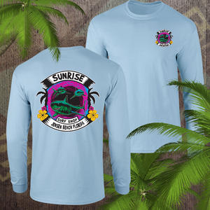 Sharks in the water - sunrise surf shop