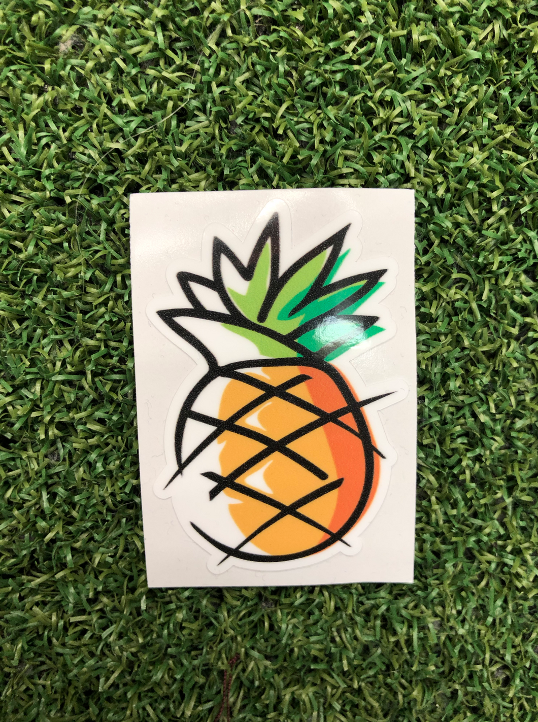 pineapple drawing 2 inches - sunrise surf shop