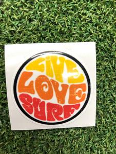 Live Love Surf 2 inches - sunrise surf shop