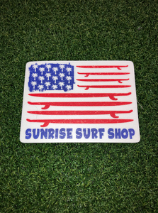 Palm tree & Boards - sunrise surf shop