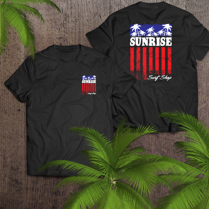 Palm Flag - sunrise surf shop