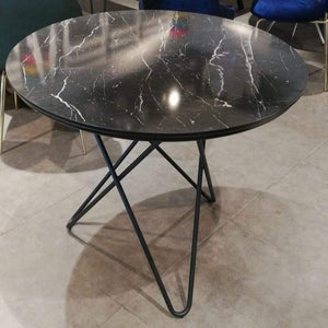 STAR DINING TABLE BLACK MARBLE