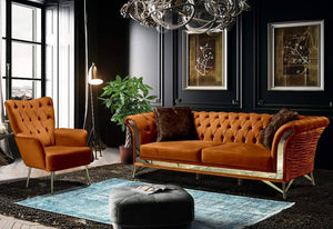 LUXURY DAMLA SOFA SET 3+3+1