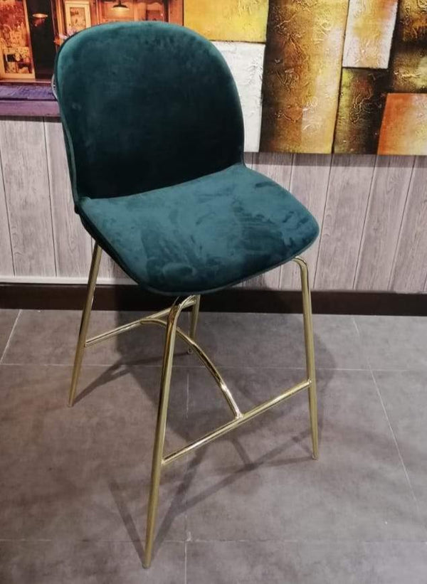 STAR BAR STOOL GREEN &  GOLDEN LEGS