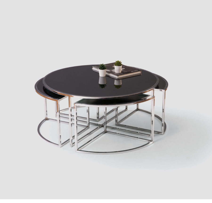 AELA CENTER TABLE & 4 SIDE TABLES