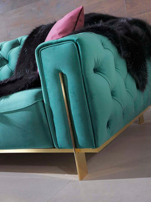 Gold Green Sofa Set
