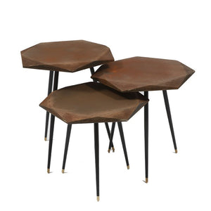 VIRUS/P/ COFFEE TABLE SET OF 3
