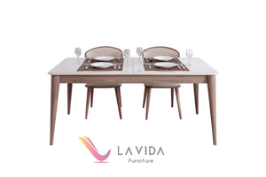 LAGUAR DINING TABLE + 6 CHAIRS, LAGUAR DINING TABLE + 6 CHAIRS, La Vida Furniture