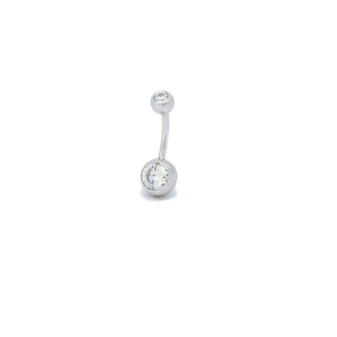 "Double Jewelled Belly Ring | 6mm 1/4"" 8mm 5/16"" 10mm 3/8"" - Sturdy South"